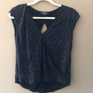 Bebe top with cut out back